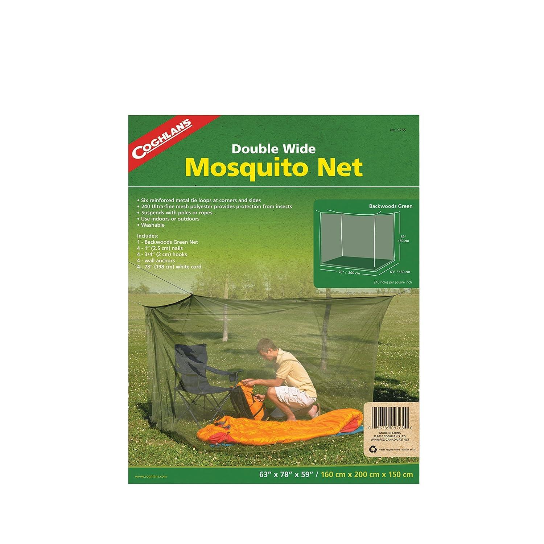 Double Wide Mosquito Net – -グリーン B06ZYN8CYC