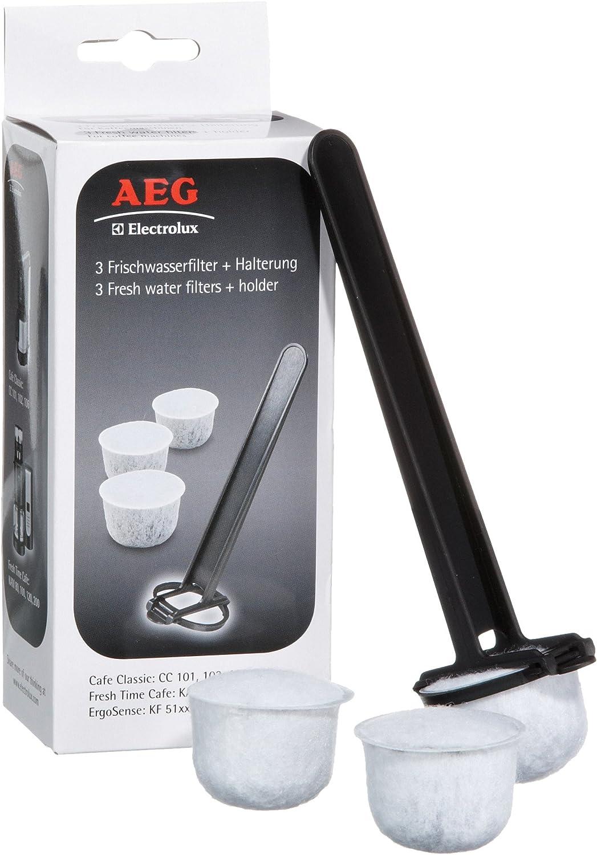 AEG FWF 02 - Filtros de agua con soporte para cafeteras eléctricas AEG Electrolux: Amazon.es: Hogar