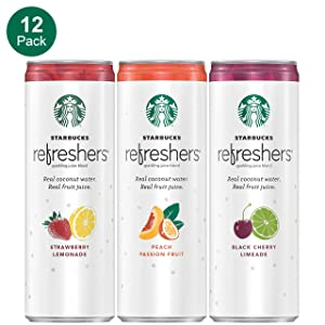 Starbucks, Refreshers with Coconut Water, 3 Flavor Variety Pack, 12 fl oz. cans (12 Pack) (Packaging May Vary)