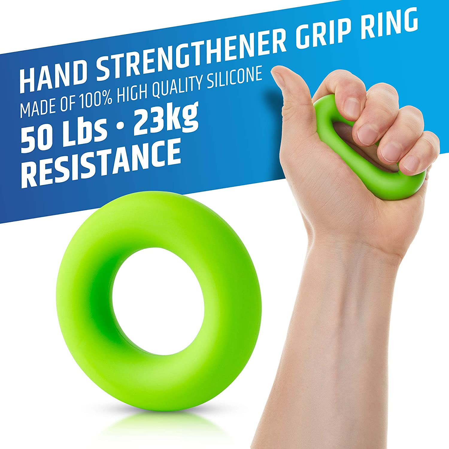 B01KLREWDM HerculesGrip Hand Grip Strengthener Forearm Grip Workout Kit - 4 Pack - Adjustable Hand Gripper Resistance Range of 22-88lbs, Finger Exerciser, Finger Stretcher & Exercise Ring + HD Video Manual 81-9zuLclVL