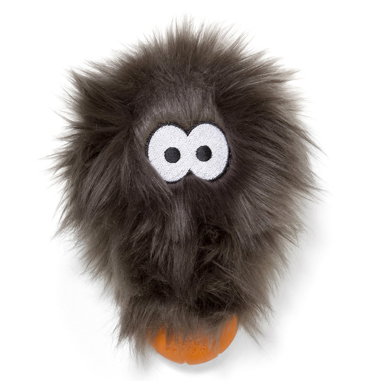 West Paw Rowdies with HardyTex and Zogoflex, Durable Plush Dog Toy for Small to Medium Dogs, Rosebud, Pewter Fur