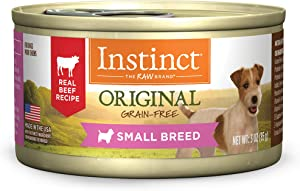 Instinct Original Small Breed Grain Free Real Beef Recipe Natural Wet Canned Dog Food by Nature's Variety, 3 oz. Cans (Case of 24)