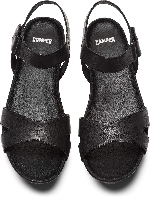 Camper Micro, Sandalias con Cuña Mujer, Negro (Black 005