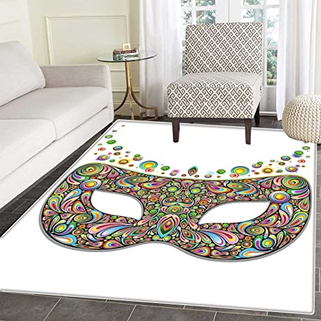 Amazon.com: Masquerade Area Mat Mask in Psychedelic Art ...