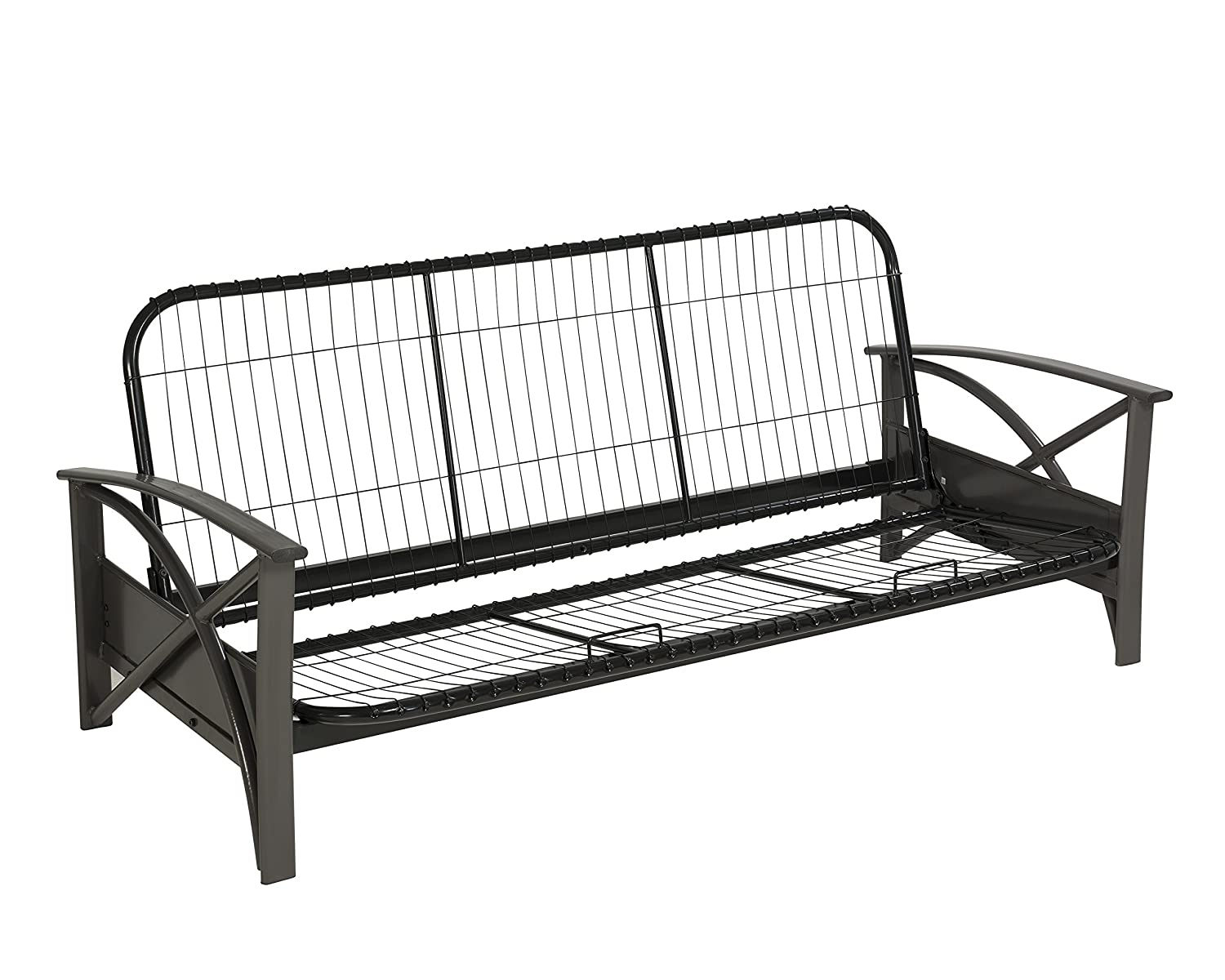 WOLF Brussels Futon Frame, Queen, Gun Metal Grey Wolf Corporation FF038/FF002