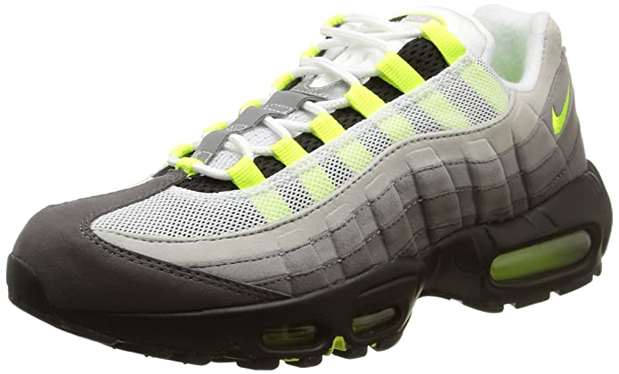 wholesale dealer 217da 80d1f Amazon.com   NIKE Men s Air Max 95 OG, Black Volt-Medium ASH-Dark Pewter,  9.5 M US   Shoes