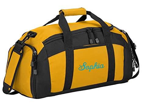 ... get online f5b6b 904bf Sport Duffel Bag by All About Me Company  Personalized MonogramName Gym Bag  shop ... 9522f7b4be