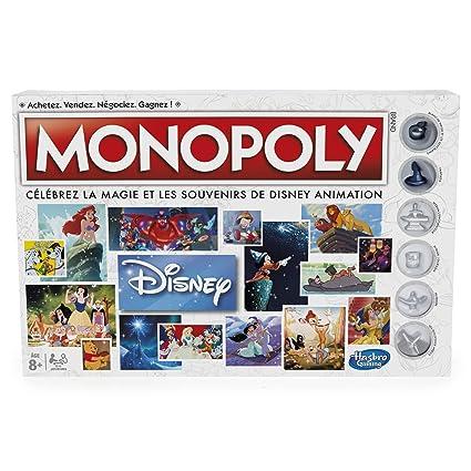 Hasbro Monopoly Disney Niños Simulación económica - Juego de Tablero (Simulación económica, Niños, Niño/niña, 8 año(s), Francés, Francés)