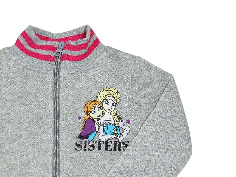 5 Anni, Grigio takestop Tuta da Ginnastica Frozen Elsa Principessa Felpa con Cerniera Zip Cartone Animato Disney Caldo Inverno Sportiva Jogging Bimba Bambina Idea Regalo