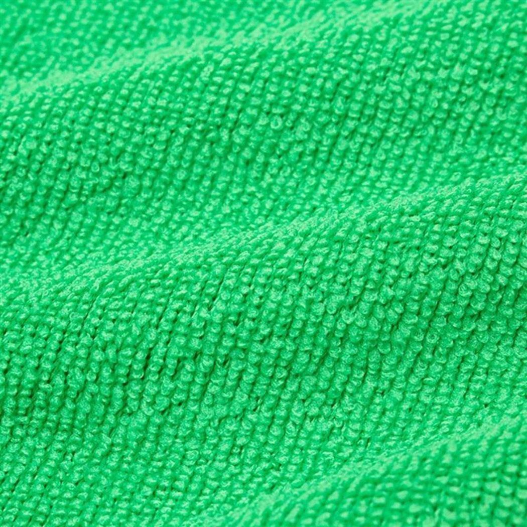 lindames 5PCS Mikrofaser quadratisches Wasser Absorptions Nicht fallendes Haar Auto Reinigungs Tuch Reinigungszubehör