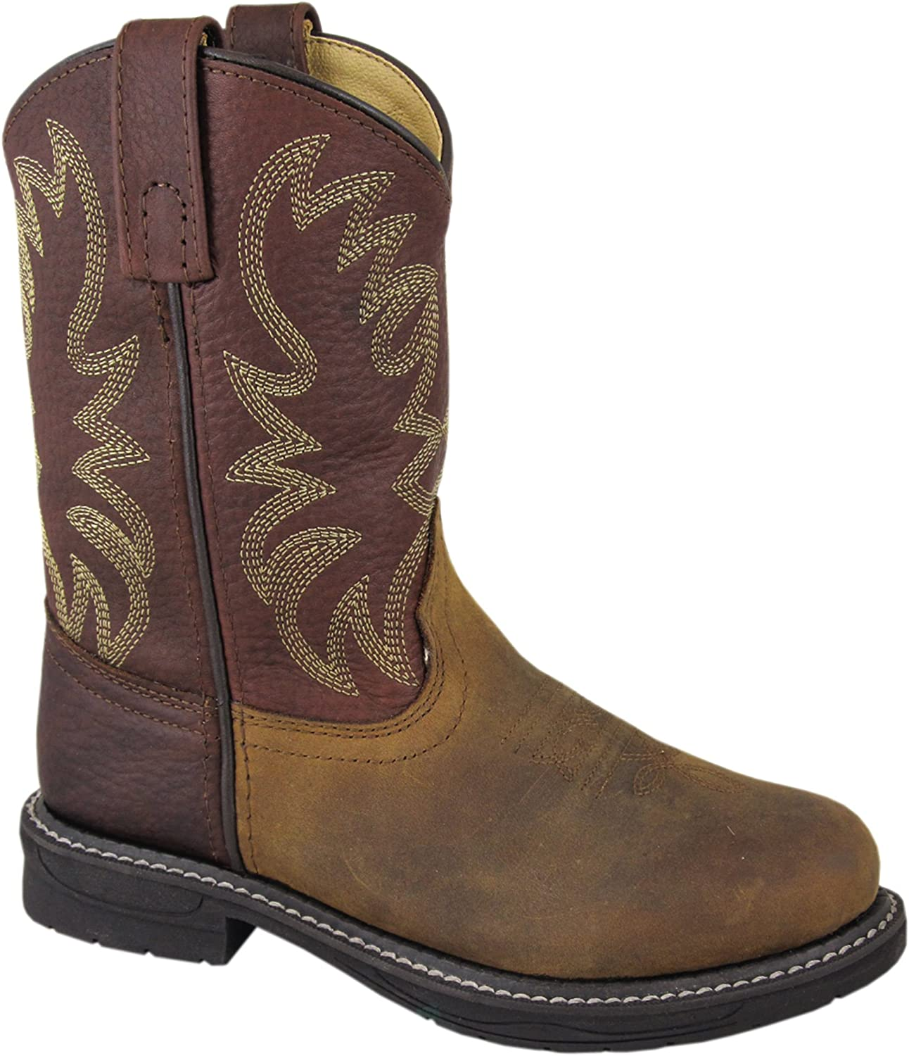 Smoky Mountain Men/'s Brown Pointed Round Western Toe Leather Cowboy Boots SALE