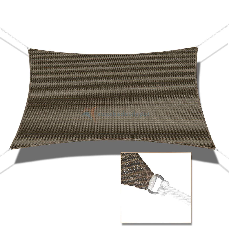 Sunshades Depotサンシェード長方形 B01KU8OBMY 18' x 24'|ブラウン ブラウン 18' x 24'
