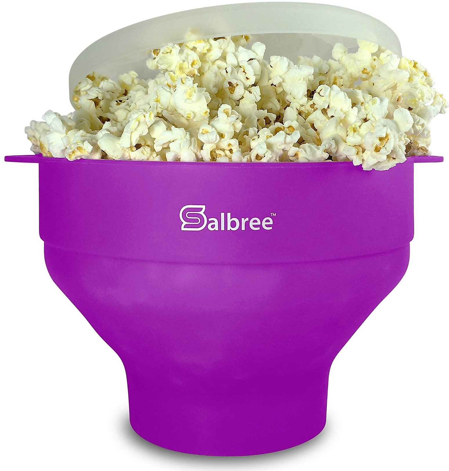 The Original Salbree Microwave Popcorn Popper, Silicone Popcorn Maker, Collapsible Bowl BPA Free - 14 Colors Available (Purple)