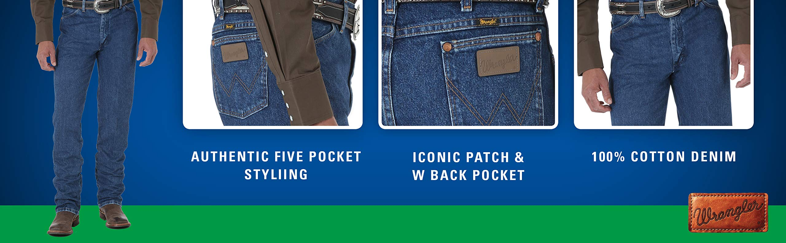 Choose SZ//color Wrangler Men/'s Five Pocket Jean
