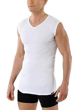 ALBERT KREUZ Camiseta Interior para Hombre sin Manga con Cuello de Pico y de 100% Algodón orgánico Blanco: Amazon.es: Ropa y accesorios
