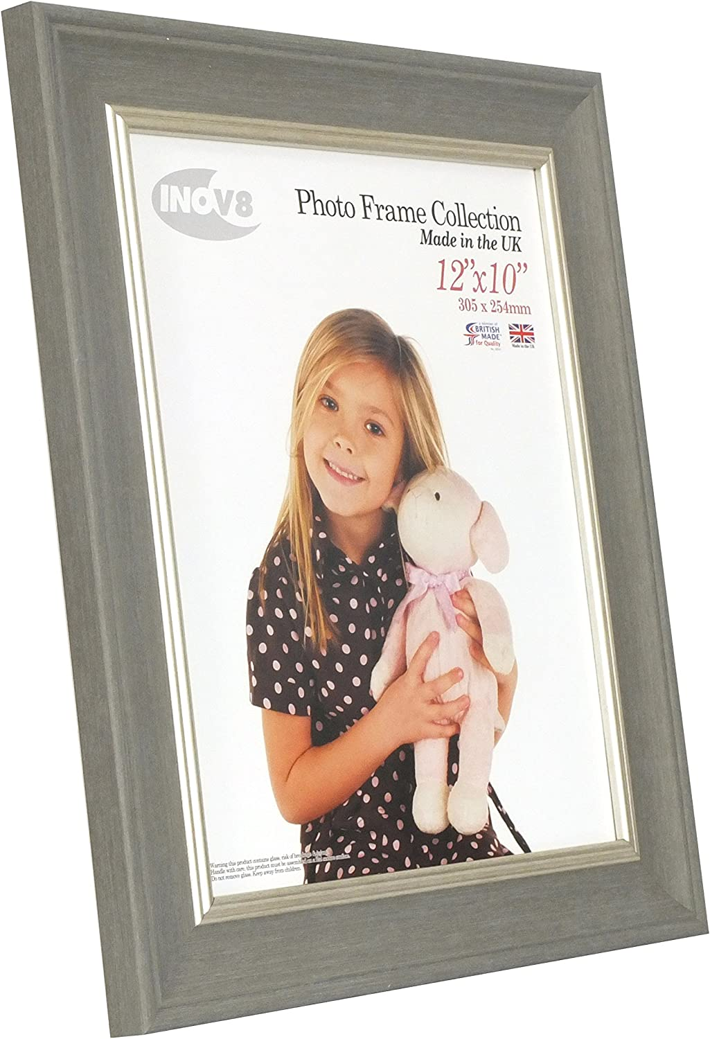 Inov8 British Made Picture//Photo Frame 12x10-inch Large Washed White X 2