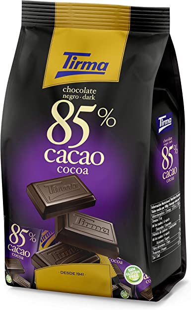 Tirma Chocolate Negro 85% Cacao Mini (14 uds. x 15g) 210g