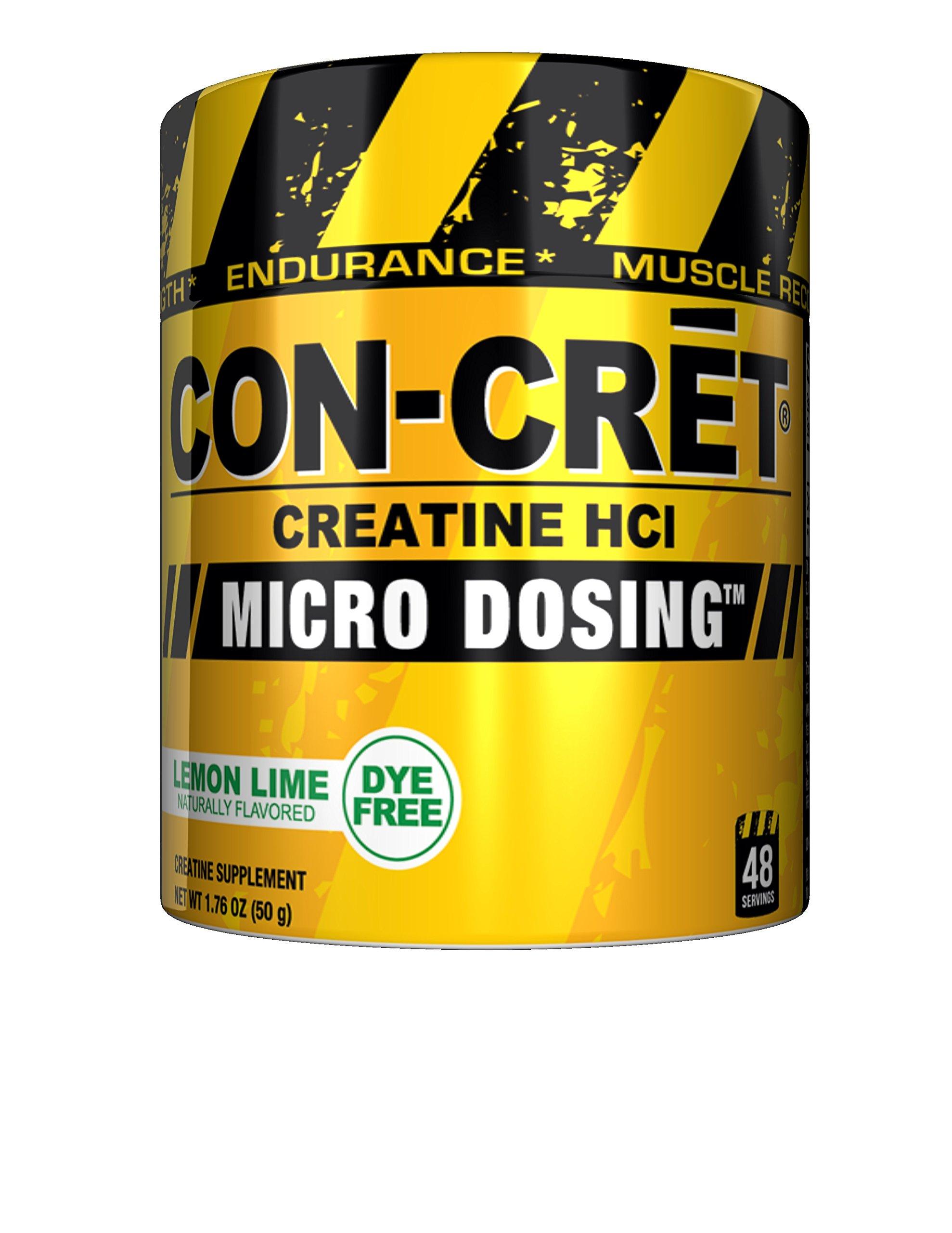 CON_CRET Creatine HCL, Lemon Lime,1.76 oz, 48 Servings by ProMera Sports