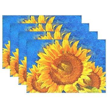 Jstel Baihuishop Sonnenblumen Van Gogh Style 12 X 18 Platzdeckchen
