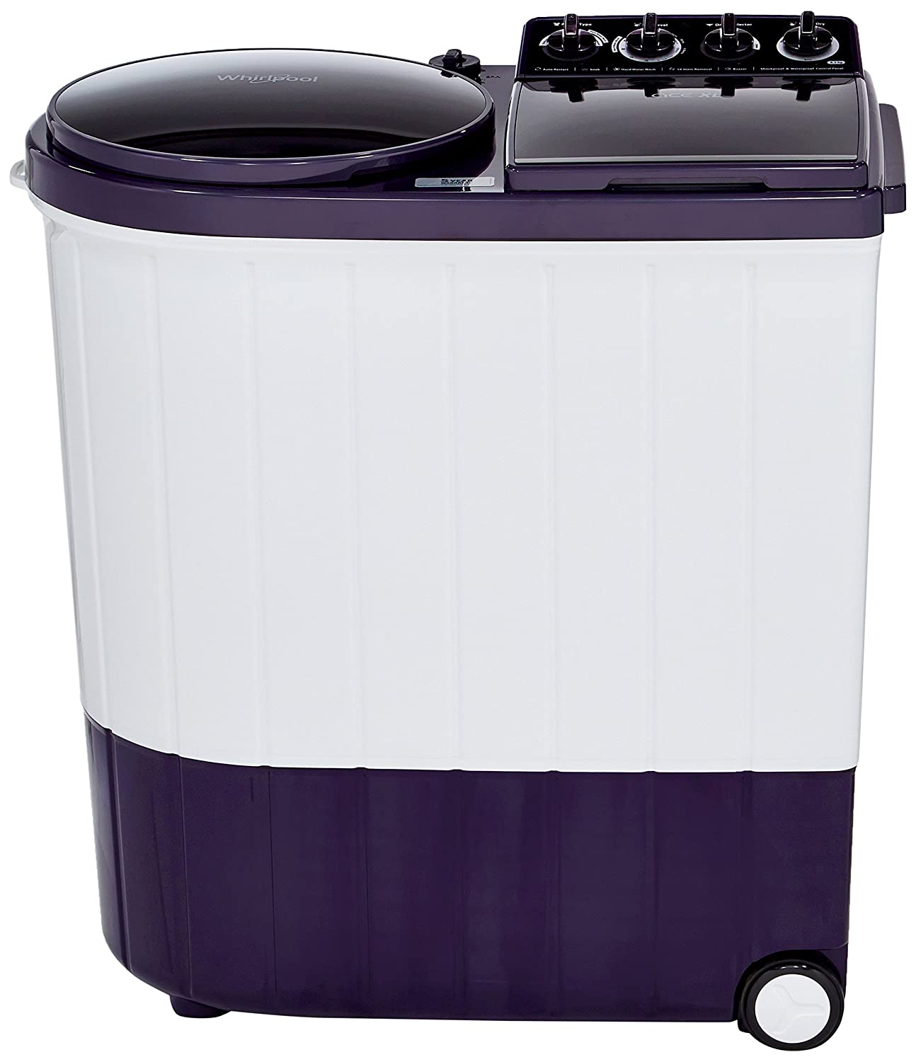 Whirlpool 8.5 kg Semi-Automatic Top Loading Washing Machine (ACE 8.5 XL, Royal Purple)