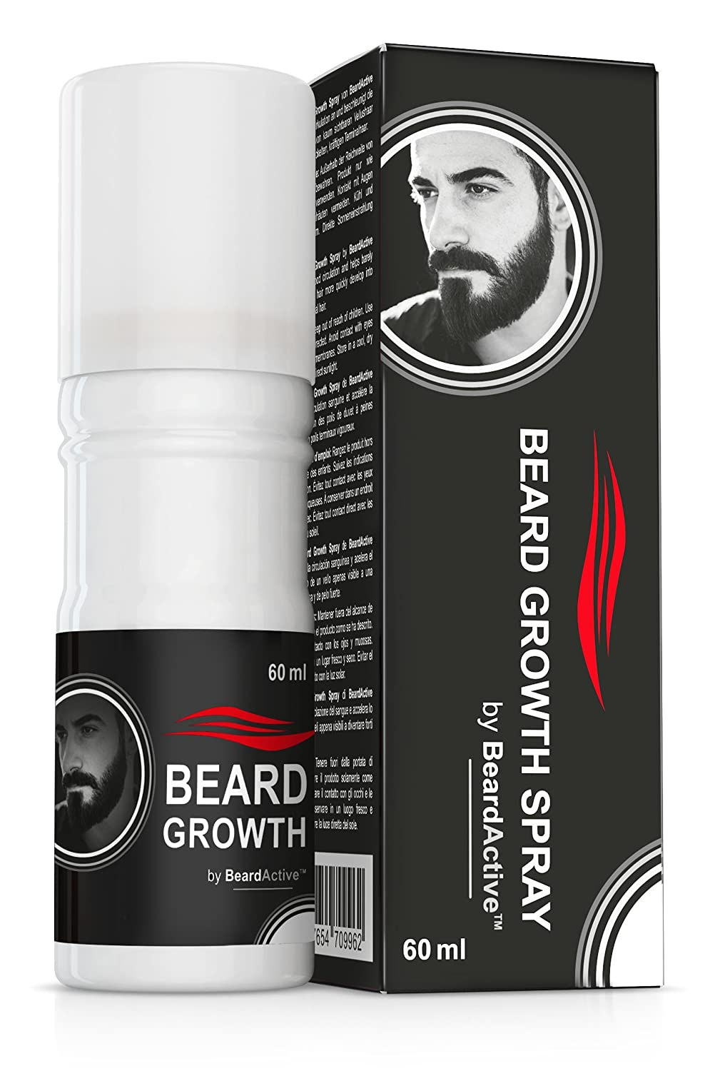 Beard Growth Spray® - The Solution for the Perfect Beard - 100 % Natural Formula - Facial Hair Support S&S Ges.b.R.
