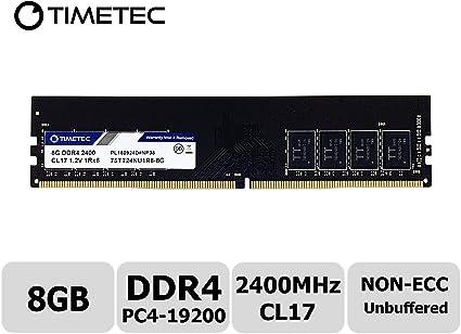 Micron 8GB 1Rx8 PC4-2400T PC4-19200 DDR4-2400Mhz 288Pin UDIMM Desktop Memory RAM
