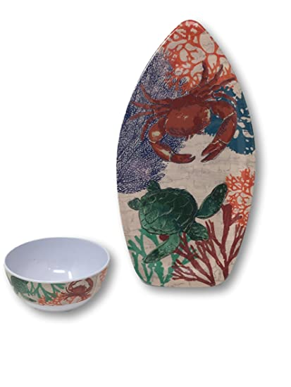 Summer Designs Melamine Serving Plates Trays Bowls - Floral Bamboo Pineapple  sc 1 st  Amazon.com & Amazon.com | Summer Designs Melamine Serving Plates Trays Bowls ...