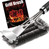 Grill Brush and Scraper - Quick Easy Safe BBQ Grill Steam Cleaning Stainless Steel Brush - Best for Weber Gas, Charcoal…