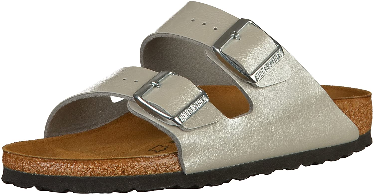 BIRKENSTOCK Damen Arizona Sandalen  41 EU|Graceful Silver (1009603)