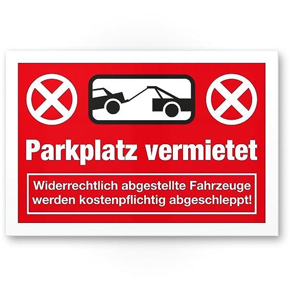 Warnung Autos//Fahrzeuge Privatparkplatz Verbotsschild Hinweisschild Parkplatz Freihalten Parkverbot Warnschild wei/ß-blau, 20 x 30 cm Parkplatzschild Privat Parkplatz
