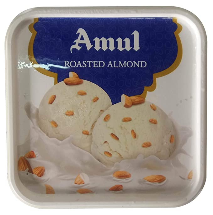 Amul Real Ice Cream - Roasted Almond, 1L Box