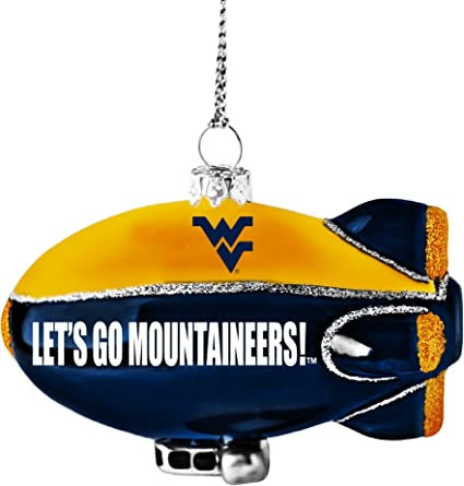 NCAA West Virginia Mountaineers Large Ball Ornament