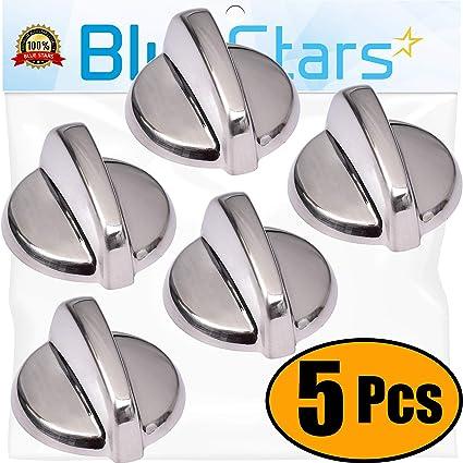 4X Wb03T10325 Range Chrome Burner Control Knob For Ge Cooktop Knobs AP5690210