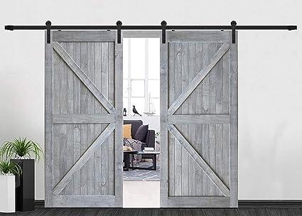 Amazon Heavy Duty 8ft96 Black Steel Double Door Hardware