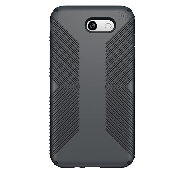 competitive price 79e07 fc8c9 Speck Products Presidio Grip Case for Samsung J7 (2017) Smartphone,  Graphite Grey/Charcoal Grey