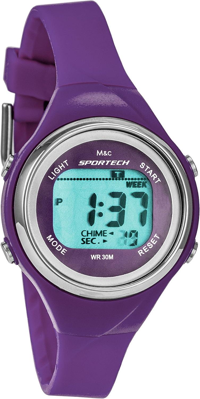 Sportech Women's | Purple Thin Band Water Resistant Swim Sport Watch | SP10713: Watches