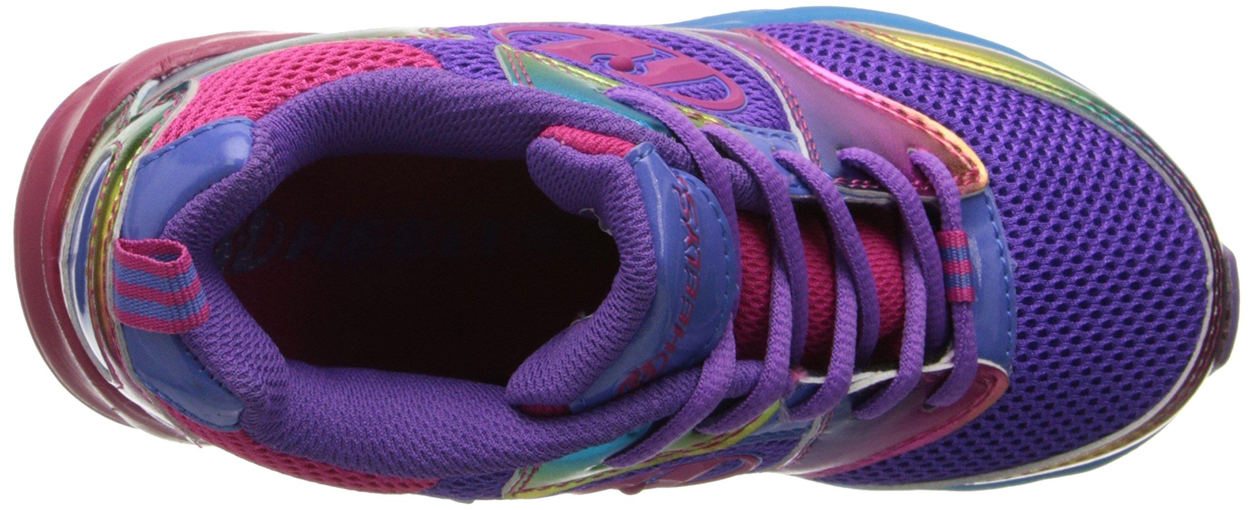 Heelys Race Skate Shoe (Little Kid/Big Kid),Purple/Rainbow,2 M US Little Kid by Heelys (Image #8)