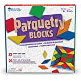 Learning Resources Parquetry Blocks & 20 Pattern Cards, 53 Piece Set, Ages 4+