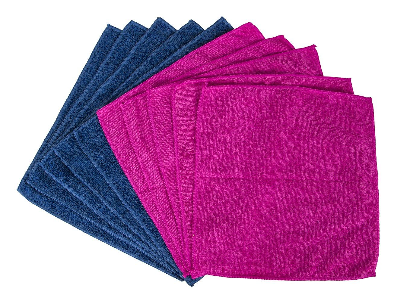 Evriholder SCM10-AMZ Sophisticlean Microfiber Towel 10pk, Blue