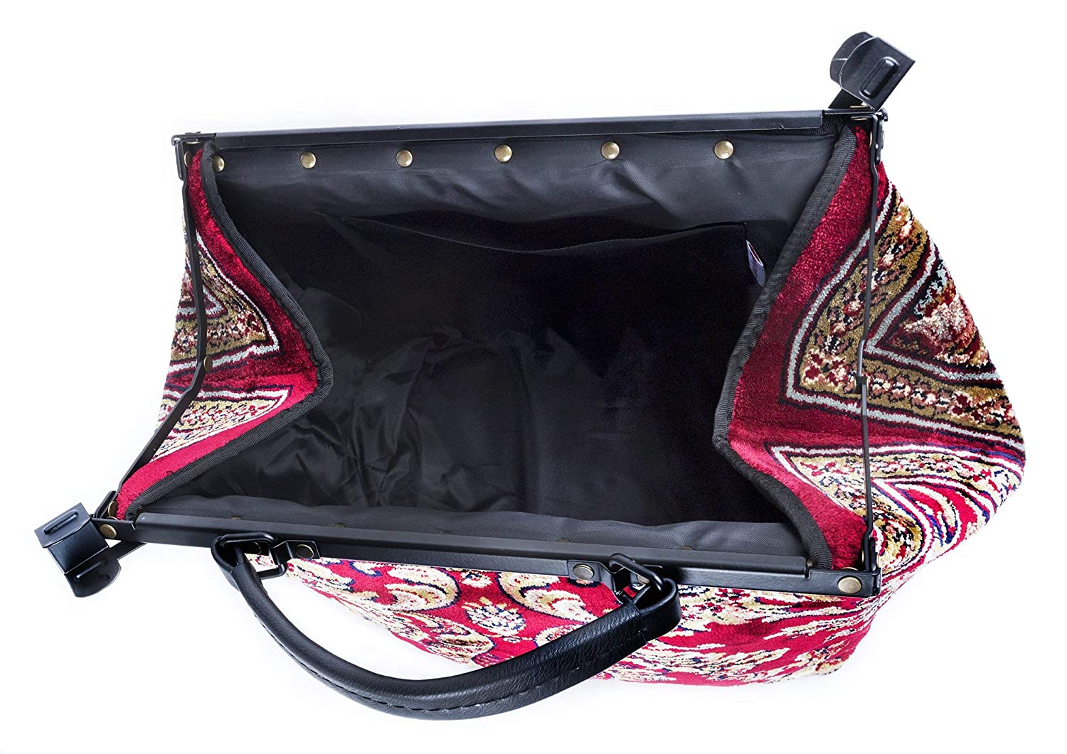 Carpet Bag Sac Voyage Blossom Red Magical Mary Poppins
