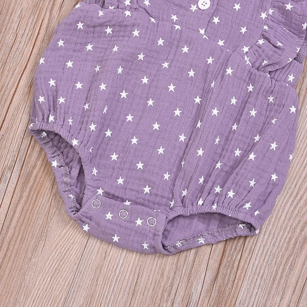 YWLINK Mono Ropa Infantil para Beb/éS Reci/éN Nacidos,4 De Julio,Estampado De Estrellas,Trajes De Traje De Mameluco Mezcla De Algod/óN Ocio Y Confort Regal