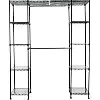 Deals on AmazonBasics Expandable Metal Hanging Storage Organizer Rack