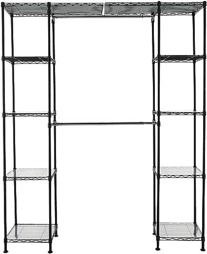 Amazon.com: AmazonBasics - Sistema organizador de closet ...