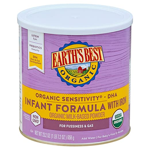 Earth's Best Organic, Sensitivity Infant Formula with Iron Review