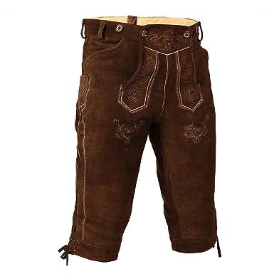 Courte Pantalon Culotte Lederhose Pour En Cuir Velours Vachette De yvIYbm76fg
