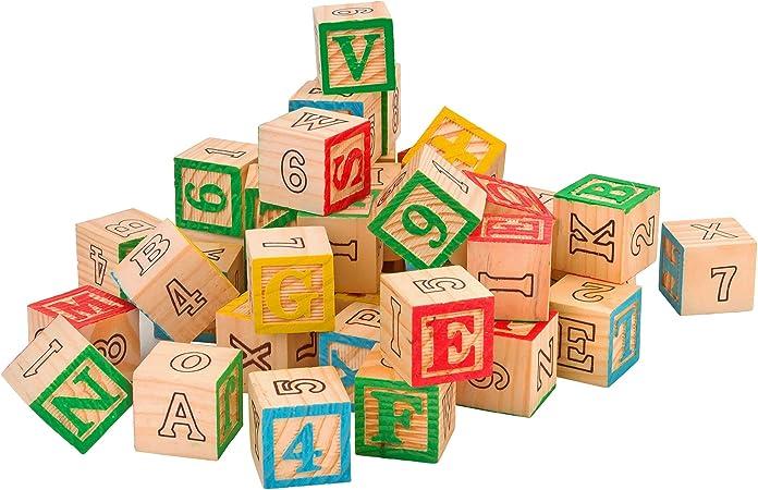 Legnoland 37725 Cubes avec Lettres Chiffres et Symboles