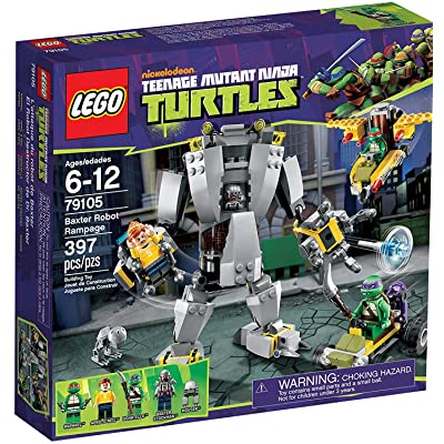 LEGO Teenage Ninja Mutant Turtles Baxter Robot Rampage 79105: Toys & Games