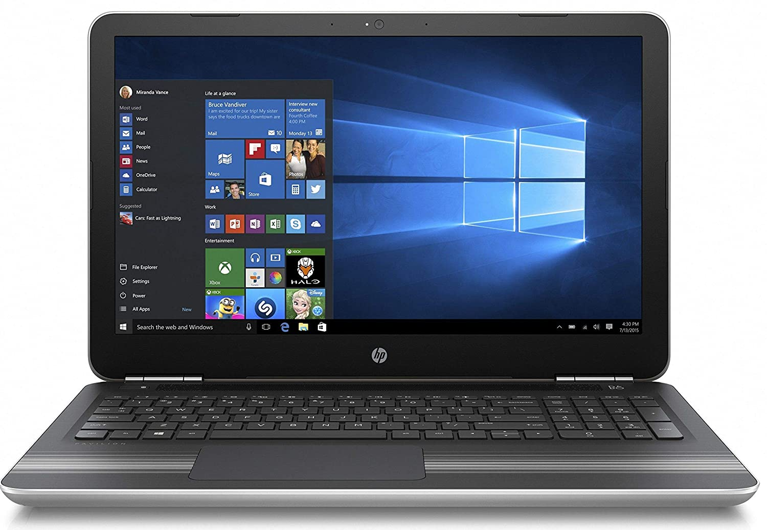 Buy HP Pavilion 15-au620TX 15.6-inch Laptop (Core i5-7200U/8GB/1TB/Windows  10 Home with MS Office/2GB Graphics), Natural Silver Online at Low Prices  in ...