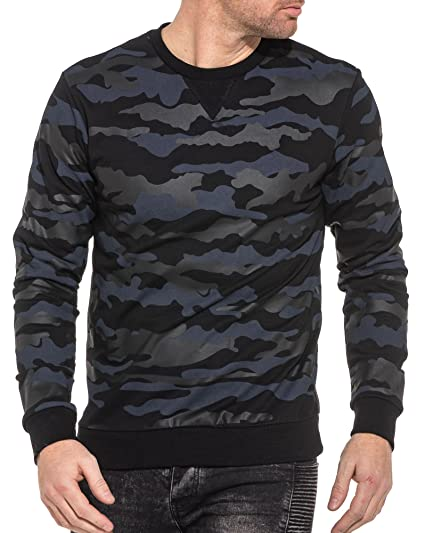 Homme Bleu Sweat Taille Couleur Frilivin Camouflage XS Navy xtOpXq
