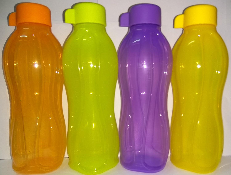 Amazon.com | Tupperware Aquasafe Water bottles Eco Sports bottle 500 ML (Set of 4 bottles): Mixed Drinkware Sets
